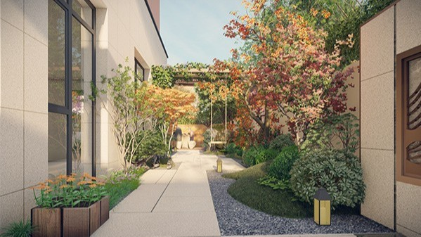 """山东青岛·""""田园牧歌""""某别墅庭院景观设计"""