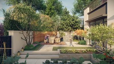 """青岛""""田园牧歌""""主题某别墅庭院景观设计"""