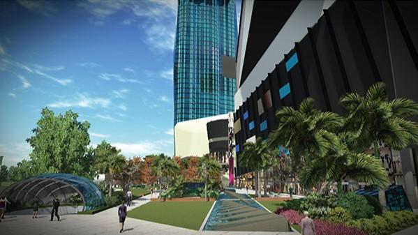 云南昆明·经典双城商业综合体景观设计