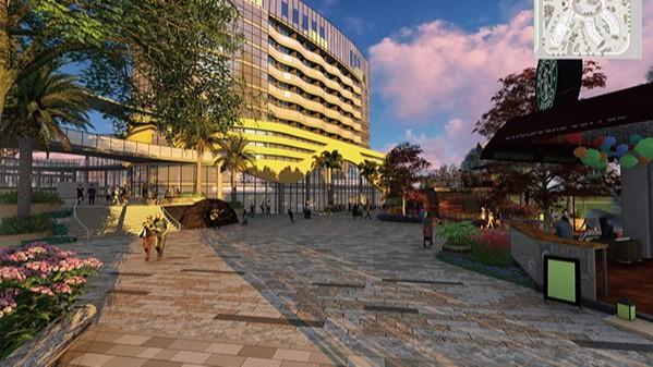 富宁万汇城商住综合体景观设计