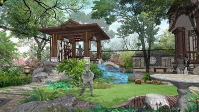 福建惠安私家别墅景观设计