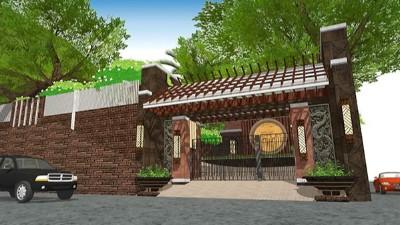 缅甸华侨别墅庭院景观设计