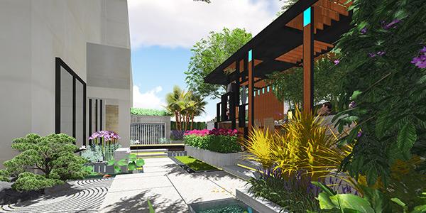 棣志景教您设计中式别墅庭院的小技巧